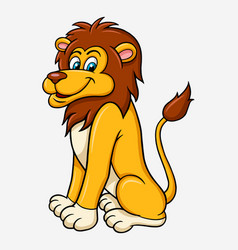 lion cartoon character vector image vector image