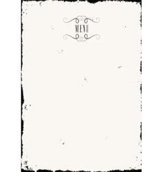 Old paper menu vector image