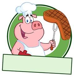 Pork steak cartoon vector image vector image