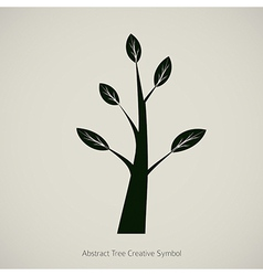 Tree Symbol Design Creative Nature Icon vector image vector image