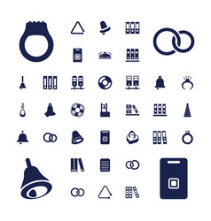 37 ring icons vector