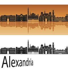 Alexandria skyline in orange vector