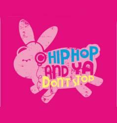Animal hip hop vector