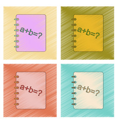 Assembly flat shading style icon math book vector