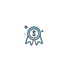 award icon design marketing icon line vector image