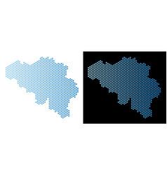 Belgium map hex-tile scheme vector