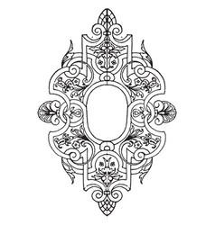 book-cover strap-work tablet vintage engraving vector image