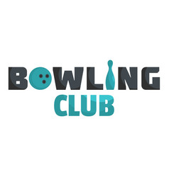 Bowling ball logo flat style vector
