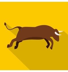 Bull icon flat style vector