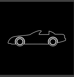 car white color path icon vector image