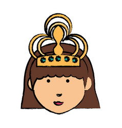 cartoon princess icon vector image