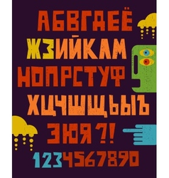 Cartoon russian alphabet letters vector image