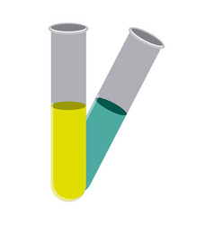 color clinical tubes icon vector image