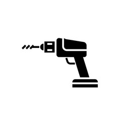 construction drilling machine icon vector image