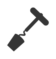 corkscrew bar utensil icon vector image