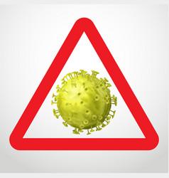 coronavirus caution sign vector image