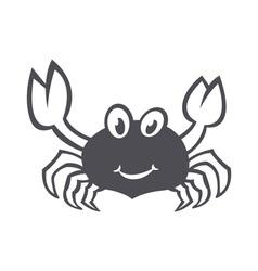 Crab sea food icon smile flat vector image