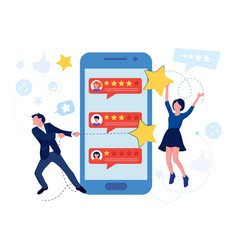 customer review and satisfaction feedback concept vector image