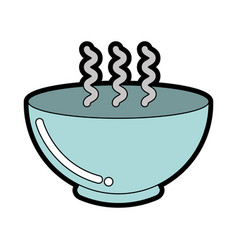 cute bowl graphic design vector image