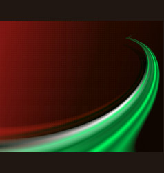 Dark red background with a green stripe vector