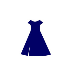 dress logo vector image
