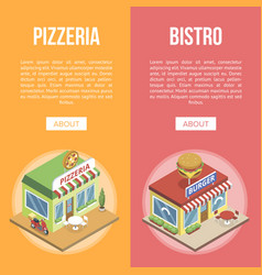 fast food buildings vector image