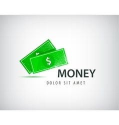 Financial logo bank business money vector