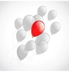 Flying balloons Abstract background vector