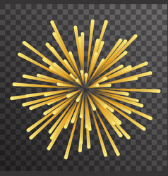 geometric gold explosion particle emission design vector image