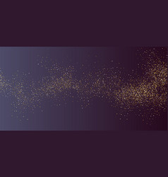 gold glitter shiny particles on a dark background vector image