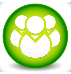 Green icon with character symbol icon with group vector