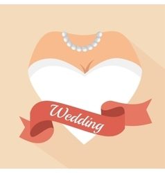 Heart form woman letter wedding vector