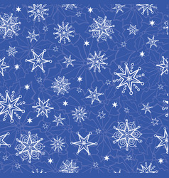 Holiday blue hand drawn christmass vector