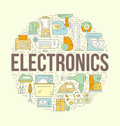 Home electronics design vector