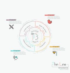 Infographic design template circular diagram with vector