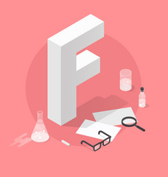 Isometric school grade vector