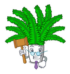 Judge fresh fern branch isolated on mascot vector