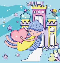 Lovely girl cartoon vector