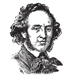 Mendelssohn vintage vector