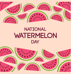 national watermelon day vector image