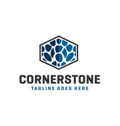 natural stone industry logo vector image