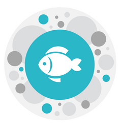of meal symbol on fish icon vector image