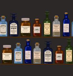 old apothecary vector image