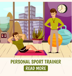 Personal sport trainer background vector