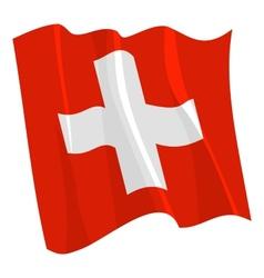 Political waving flag of switzerland vector