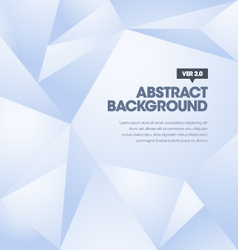 Polygonal Background Blue vector image