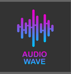 pulse music logo audio streaming service audio vector image