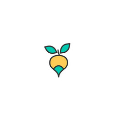 radish icon design gastronomy icon design vector image