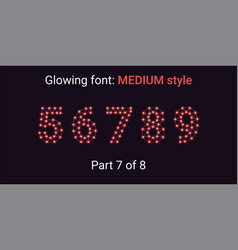 red glowing font in the outline style vector image