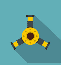 Round mechanic detail icon flat style vector